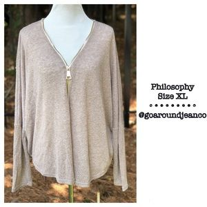 Philosophy Pull Over Top Size XL